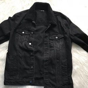 Jackson Black Denim Distressed Jacket